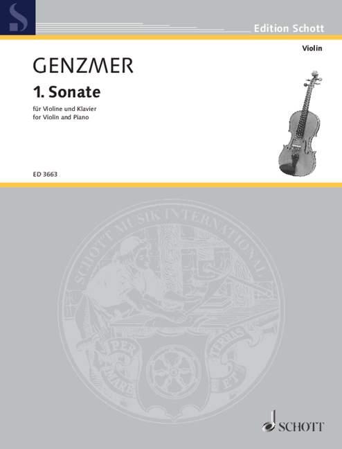1. Sonate Gewv 222 Genzmer, Harald Violon Et Piano 9790001043885-afficher Le Titre D'origine Exquis (En) Finition